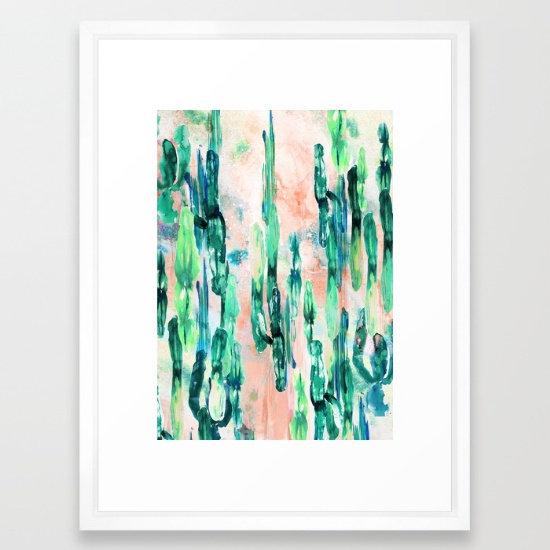 Sunset Cactus - by Nikkistrange FRAMED print