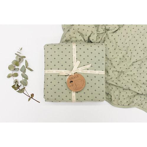 Wilder Garden Cot Blanket - Sage