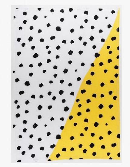General Eclectic Tea Towel - Yellow Pebble