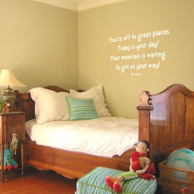 You're off to Great Places Wall Quote