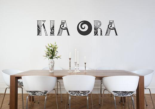 Kia Ora - Kiwiana wall decal