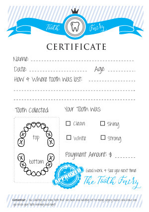Tooth Fairy Certificate - Download & Print