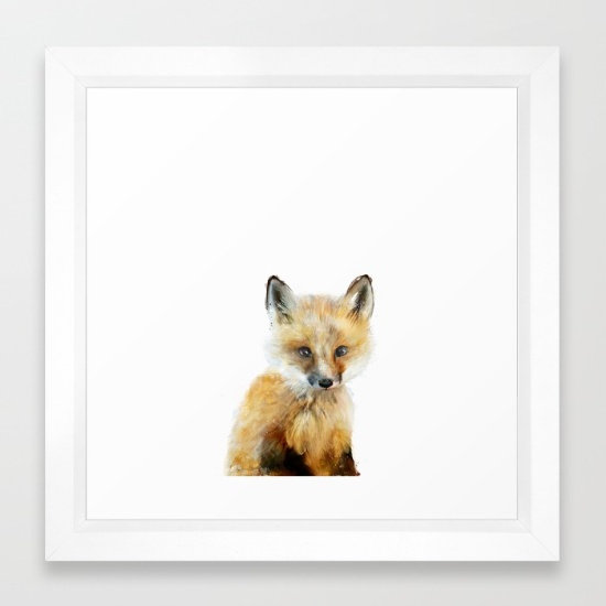 Little Fox - Amy Hamilton FRAMED print