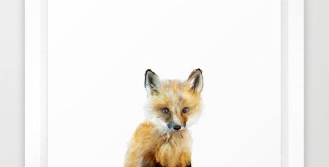 Little Fox - Amy Hamilton FRAMED print