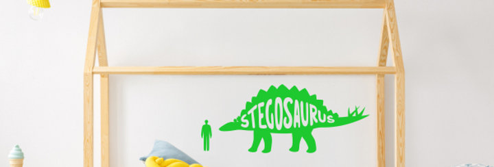 Stegosaurus Dinosaur Wall Decal