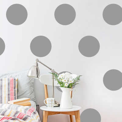 Large dot Decals - Silver