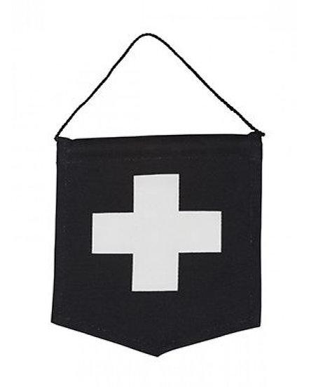 General Eclectic Banner - Black Cross