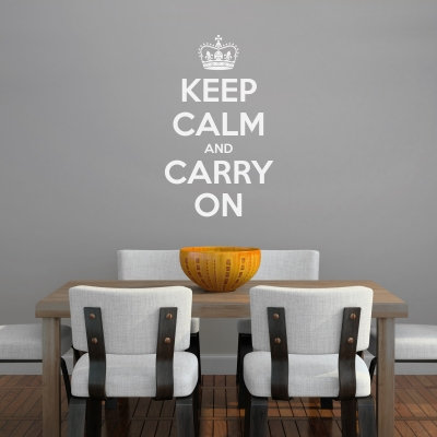 Keep Calm and Carry On Wall Quote