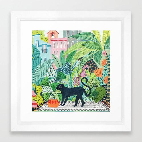 Jungle Panther - FRAMED Art Print