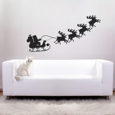 Santa's sleigh decal from