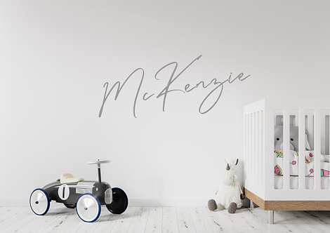 McKenzie style Name-it Wall Decal - Grey