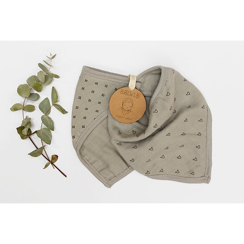 Wilder Garden Bib Set - Grey