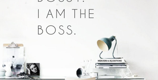 I'm Not Bossy, I am the Boss Decal
