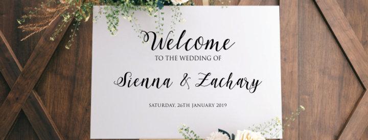 Custom Wedding Welcome Decal
