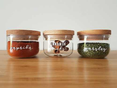 Orderly Herb & Spice Canisters