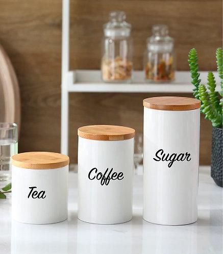 ORDERLY Tea, Coffee, Sugar Decals