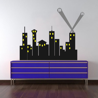 Super Hero City Decal