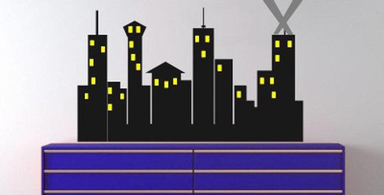 Super Hero City Decal