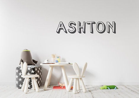 Custom Name-it Decal - Style Ashton