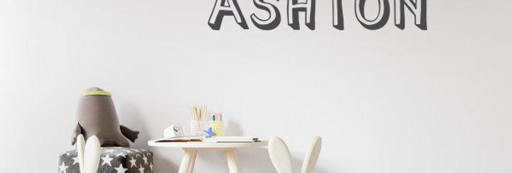 Custom Name-it Decal - Style Ashton
