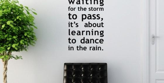 In the Rain Decal