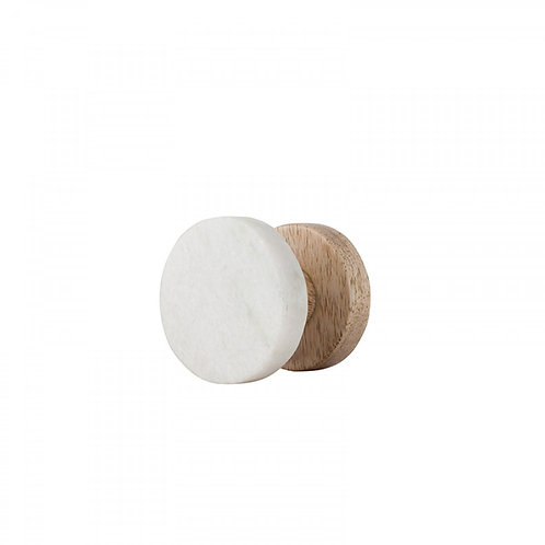 Marble Wooden Hook - Small