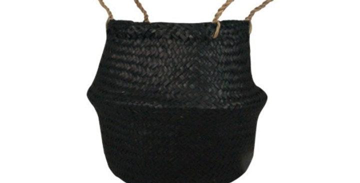 Black Seagrass Belly Basket - Sml