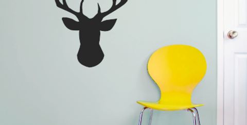 Stag head Decal