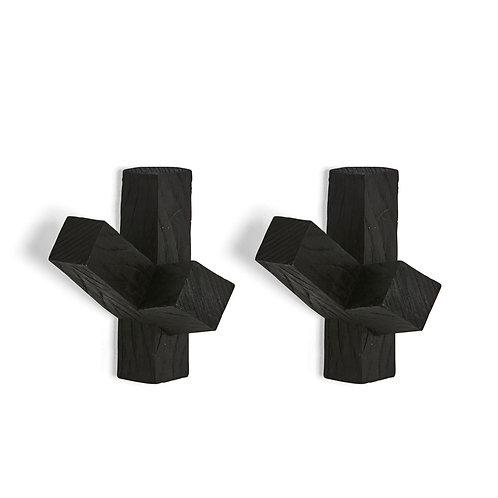 Black Cactus Wall Hooks - Set of two