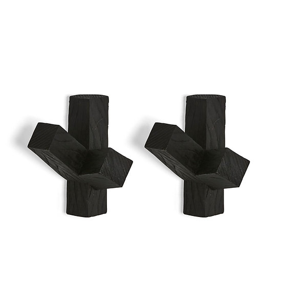 Black Cactus Wall Hooks - Set of two