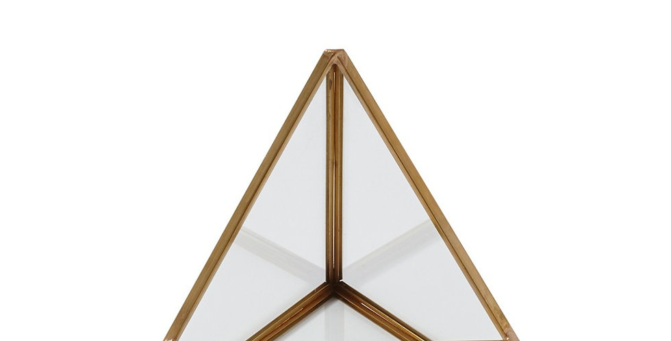 Brass Triangular Terrarium