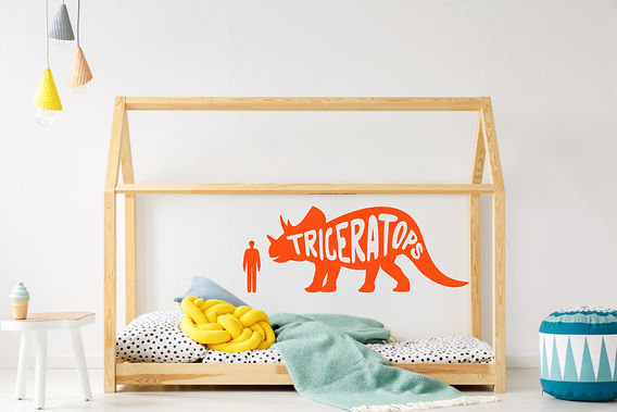 Triceratops wall decal - from the dino series