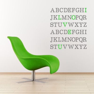 Alphabet Secret Message Decal