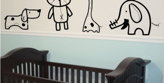 Nursery Animal Decals
