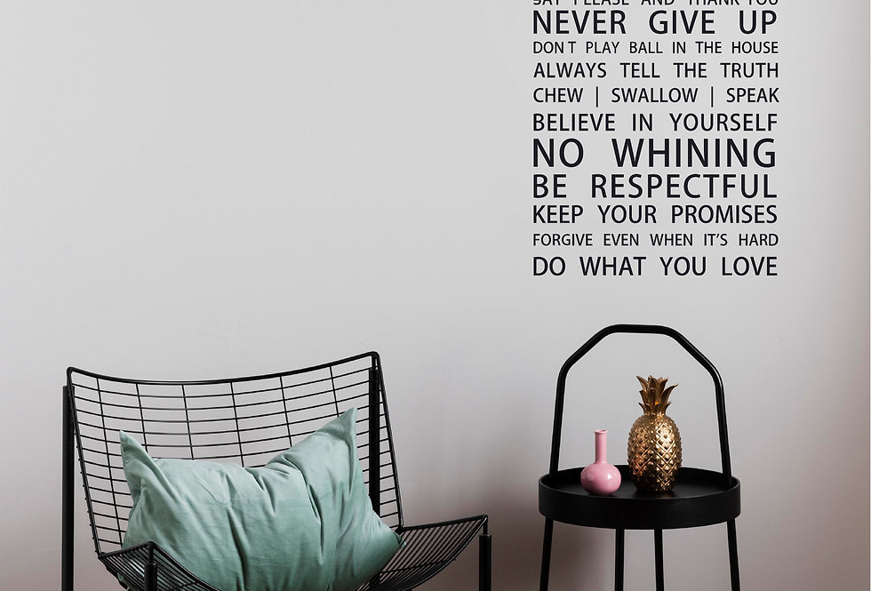 House Rules Decal