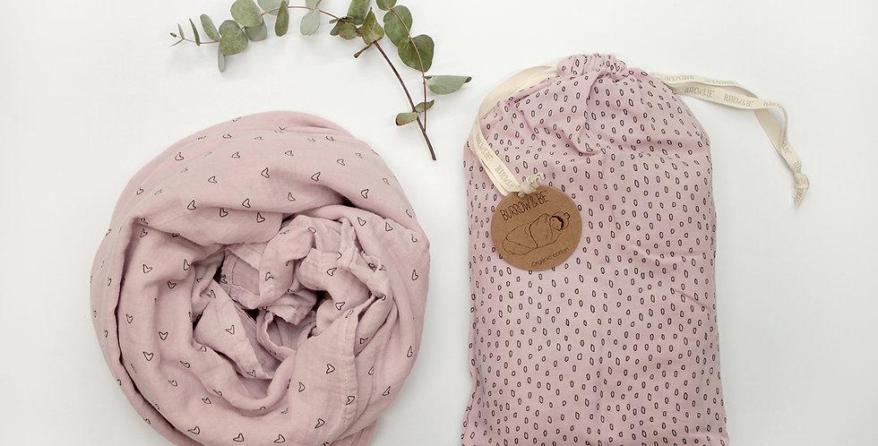 Wilder Garden Muslin Wrap - Pink