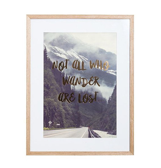 General Eclectic Wander Framed A3 Print