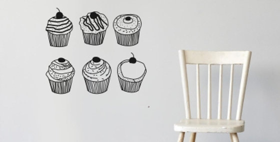 Cupcake Decals