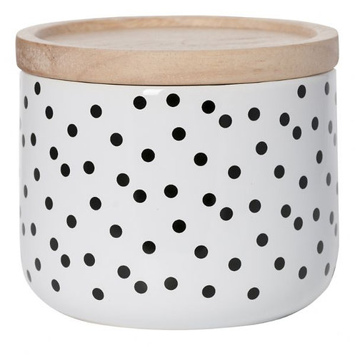 General Eclectic Small Canister - Black spot