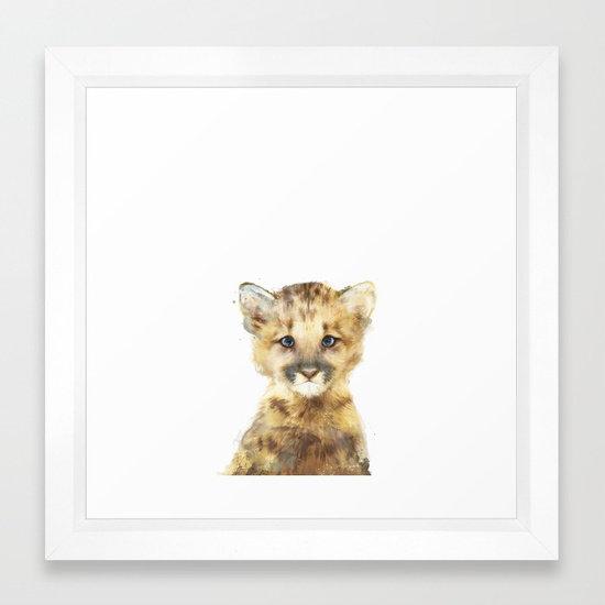 Little Mountain Lion - Amy Hamilton FRAMED Print