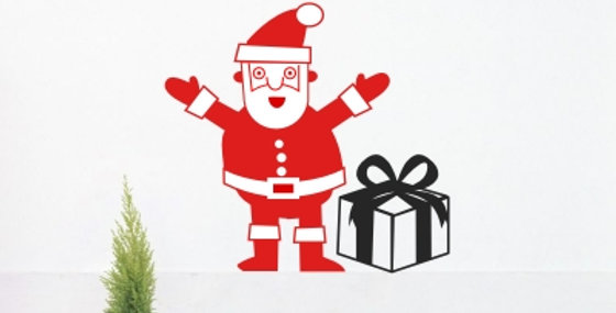 Santa Decal from
