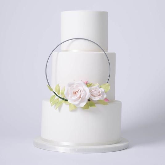 Floral Ring Wedding Cake