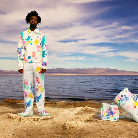 Louis Vuitton обрызгал рэпера 21Savage акварельными красками