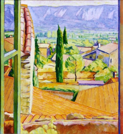 'Lanscape in Provence' Oil on Canvas (size:18x24 inches) 2006 Framed: £900.00