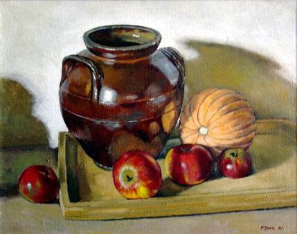 STILL LIFE WITH BROWN POT
