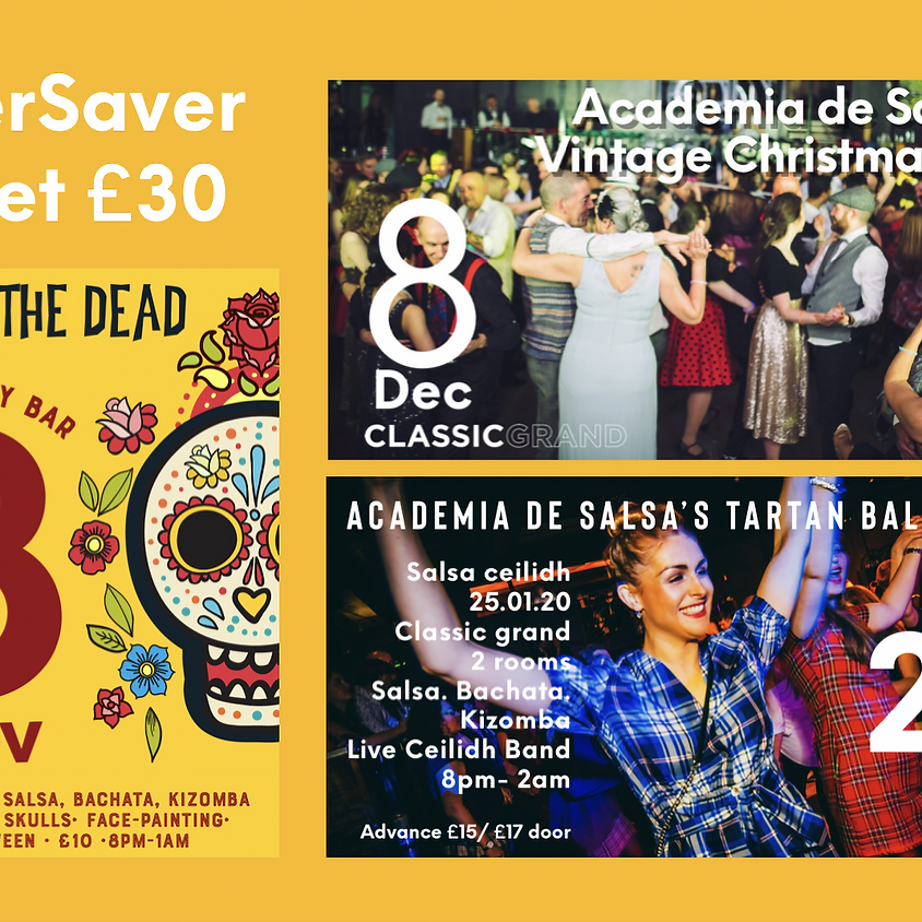 Super Saver Festive Ticket : All 3 events for the price of 2!