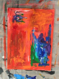 Color Study Orange III $ 75