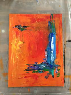 Color Study Orange I $75