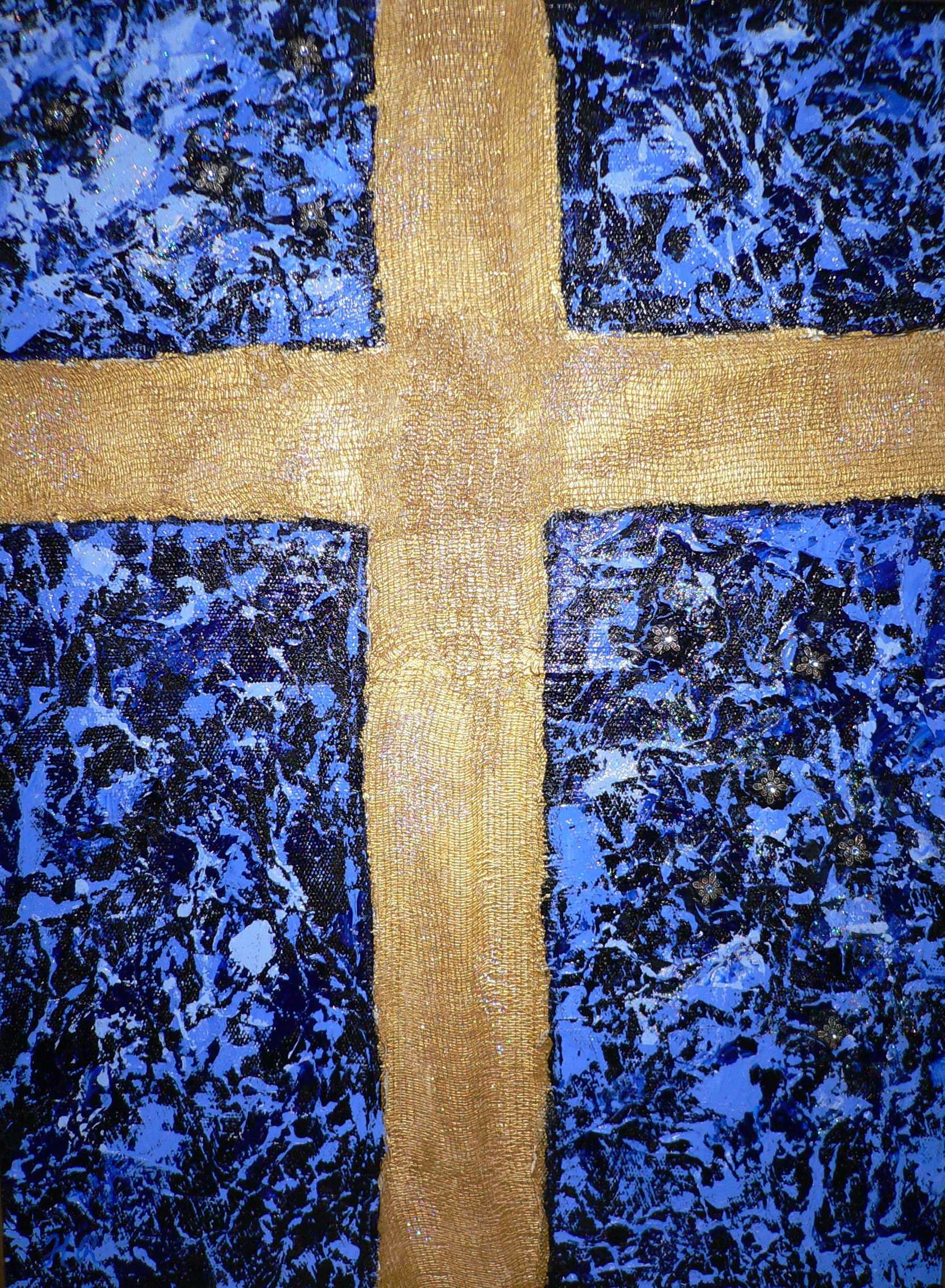 Cross on Blue $250