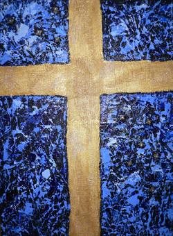Cross on Blue $250